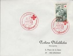 """LSC 1966 - SAINT BENOIT (Réunion) - Cachet  Croix Rouge """"premiers Soins"""" Sur YT 1508 - Marcophilie (Lettres)"""