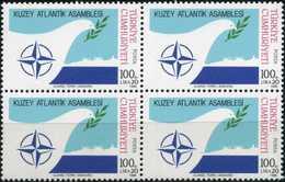 TURKEY 1986 (**) - Mi. 2764, The North Atlantic Assembly [Block Of Four] - 1921-... Republic