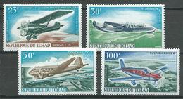 Tchad Poste Aérienne YT N°37/40 Compagnie Air Tchad Neuf ** - Tchad (1960-...)