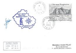 TAAF - Alfred Faure-Crozet: Lettre 40ème Mission Avec Timbre N°362 L'Ile Aux Pingouins - 01/01/2003 - Terres Australes Et Antarctiques Françaises (TAAF)