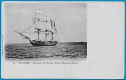 CPA (Bateau Voilier 3 Mats) SYLPHE : Annexe Du BORDA, Ecole Navale (29) BREST - Segelboote