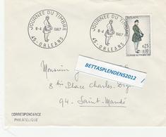 """LSC 1967 - ORLEANS - Cachet  """"Jounée Du Timbre """" Sur YT 1516 - Marcophilie (Lettres)"""