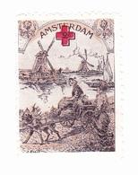 Vignette Militaire Delandre - Croix Rouge - Amsterdam - Erinnophilie