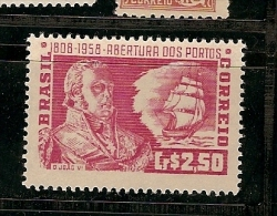 Brazil ** & Abertura Dos Portos Ao Comercio Externo, D. João VI 108-1958  (641) - Familles Royales