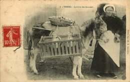 121218 - 63 THIERS Laitère Des Garniers - âne Petit Métier Paysanne Scène Champêtre - Thiers