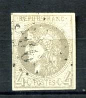 41B - 4c Gris Cérès Bordeaux - Rep. 2 - Oblitéré - Très Beau - 1870 Bordeaux Printing