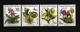 TSCHECHISCHE REPUBLIK Mi-Nr. 135 - 138 Geschützte Pflanzen Postfrisch - Tchéquie