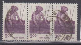 1975-85 India - Weaving (trittico) - India