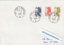 LSC 1986 - SCE LYON  A  BORDEAUX  D - Poststempel (Briefe)