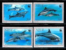 """Niue     """"Dolphins""""       Set    SC# 651-54      MNH - Niue"""