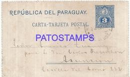 104857 PARAGUAY VILLA ENCARNACION YEAR 1903 CIRCULATED TO ASUNCION POSTAL STATIONERY POSTCARD - Paraguay