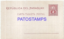 104858 PARAGUAY POSTAL STATIONERY POSTCARD - Paraguay