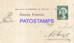 104860 PARAGUAY YEAR 1901 POSTAL STATIONERY NO POSTCARD - Paraguay