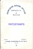 104862 CHILE FERROCARRIL COCHES COMEDORES YEAR 1939 MENU NO POSTAL POSTCARD - Menus