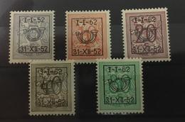 Type D Cijfer Op Heraldieke Leeuw 1952 - Tipo 1951-80 (Cifra Su Leone)