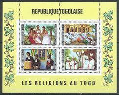 Togo Bloc-feuillet YT N°55 Les Religions Au Togo Neuf ** - Togo (1960-...)