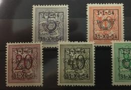 Type D Cijfer Op Heraldieke Leeuw 1954 - Tipo 1951-80 (Cifra Su Leone)