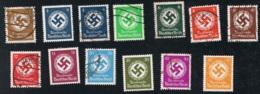 18. Jan. 1934 Dienstmarken Michel 132 - 142 Gestempelt O Siehe Scan - Deutschland
