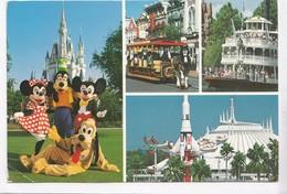 Walt Disney World, Magic Moments In The Magic Kingdom, Mickey, Minnie, Goofy And Pluto, Used Postcard [22402] - Disneyworld