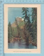 Carte De Voeux Pliante - Feuille Chromo Sur Carton , Représentation: Mount Rundle Banf Park Canada - Chromos