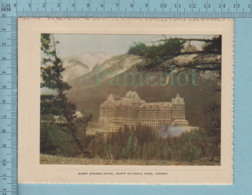 Carte De Voeux Pliante - Feuille Chromo Sur Carton , Représentation: Banff Spring Hotel Canada - Chromos