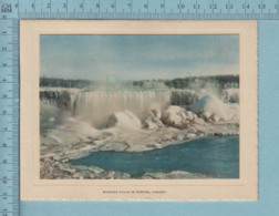 Carte De Voeux Pliante - Feuille Chromo Sur Carton , Représentation: , Niagara Falls In Winter  Canada - Chromos
