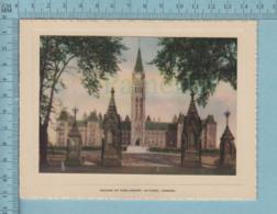 Carte De Voeux Pliante - Feuille Chromo Sur Carton , Représentation: , Parlement à Ottawa Canada - Chromos