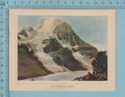 Carte De Voeux Pliante - Feuille Chromo Sur Carton , Représentation: ,Mount Robson Park  Canada - Chromos