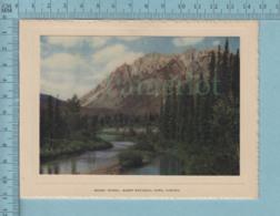 Carte De Voeux Pliante - Feuille Chromo Sur Carton , Représentation: ,Mount Ishbel Banff National Park Canada - Chromos