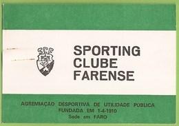Faro - Cartão De Sócio Do Sporting Clube Farense - Vieux Papiers