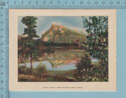 Carte De Voeux Pliante - Feuille Chromo Sur Carton , Représentation: ,Mount Rundle Banff National Park Canada - Chromos