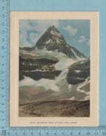 Carte De Voeux Pliante - Feuille Chromo Sur Carton , Représentation: ,Mount Assiniboine Banff National Park Canada - Chromos