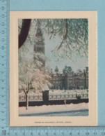 Carte De Voeux Pliante - Feuille Chromo Sur Carton , Représentation: ,House Of Parliament Ottawa Canada - Chromos