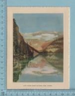 Carte De Voeux Pliante - Feuille Chromo Sur Carton , Représentation: ,Lake Louise Banff National Park Canada - Chromos