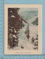 Carte De Voeux Pliante - Feuille Chromo Sur Carton , Représentation:  Victoria Glacier, Lake Louise Canada - Chromos