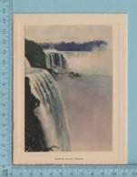 Carte De Voeux Pliante - Feuille Chromo Sur Carton , Représentation:  Niagara Falls  Canada - Chromos
