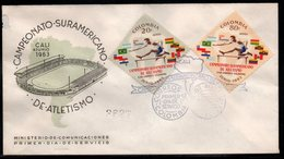COLOMBIA- KOLUMBIEN - 1963.FDC/SPD. SPORTS - SOUTH AMERICAN CHAMPIONSHIPS IN ATHLETICS, CALI JUNE 1963 - Colombia