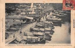CPA Sites Pittoresques - Frontière Sino-Annamite - Pont De Bateaux Sur Le Song-Bang-Giang ( Long-Tchéou ) - Viêt-Nam
