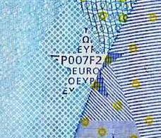 20 EURO DUISENBERG  - X - GERMANY -  P007 F2 - UNC - FDS - X08332547933 - EURO