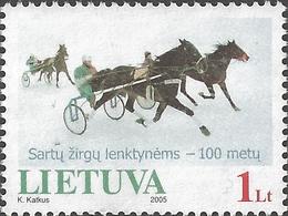 Lithuania - Horse Race, MINT, 2005 - Horses