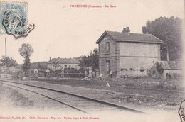 CPA :  Voyennes (80)  La Gare     (fermée En 1973)               Cliché Hermann - Frankrijk