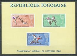 Togo Bloc-feuillet YT N°22 Coupe Du Monde De Football 1966 Neuf ** - Togo (1960-...)