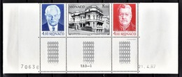 MONACO 1987 -SERIE COIN DE FEUILLE / DATE  N° 1562 A 1564 (1564A ) - NEUFS** - Mónaco
