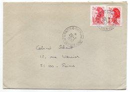 1990--lettre De PARIS CHERCHE-MIDI -75  Pour REIMS-51-type Liberté--cachet Rond à étoile - Marcophilie (Lettres)