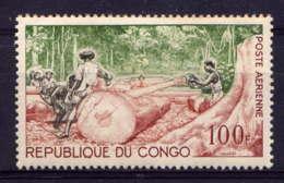 CONGO - A18** - ABATTAGE DU BOIS - Congo - Brazzaville