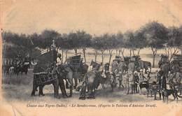 CPA Chasse Aux Tigres ( Indes ) - Le Rendez-vous, ( D'après Le Tableau D'Antoine Druet ) - Inde