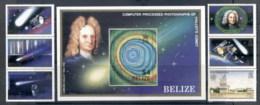 Belize 1986 Halley's Comet + MS MUH - Belize (1973-...)