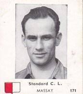 STANDARD C.L. Joueur MASSAY Fernand, Né En 1919 Demi Gauche Joueur Football Photo Fiche Identité N°171 Début Années '50 - Sports