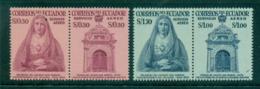 Ecuador 1958 Miracle Of San Gabriel College Pairs MUH Lot35832 - Ecuador
