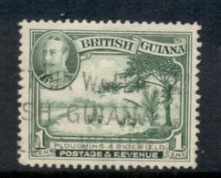 British Guiana 1934 KGV Pictorial Plowing Rice Field 1c FU - Guyane Britannique (...-1966)